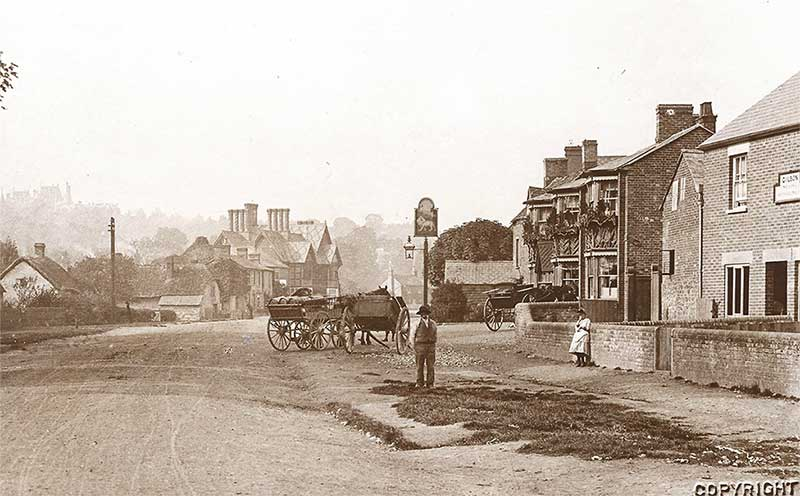 historic old picture of the lion in waddesdon
